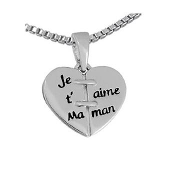 "Le pendentif ""je t'aime Maman"""