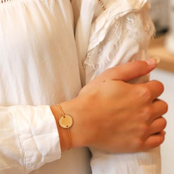 Bracelet médaille enfant sur chaine à personnaliser