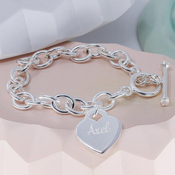 Bracelet Coeur Personnalisé grands maillons