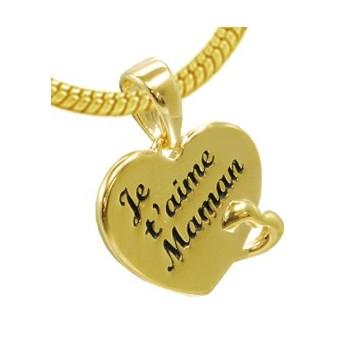 "Le pendentif 2 coeurs ""je t'aime Maman"""