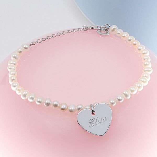 Bracelet perles et coeur à personnaliser