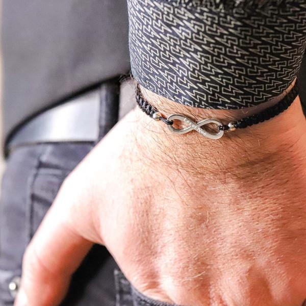 Bracelet Shamballa infini à personnaliser
