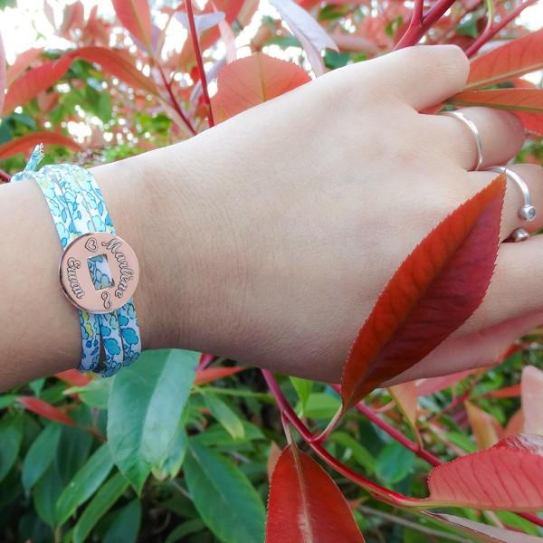 Bracelet Pastille triple tour