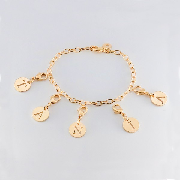 Bracelet Charms Initiales