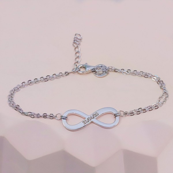 Duo de bracelets infini à personnaliser