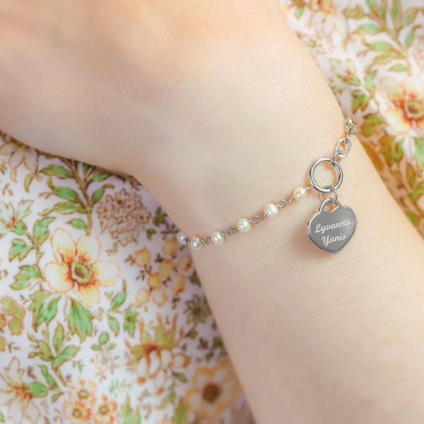Bracelet demi chaine et coeur à personnaliser
