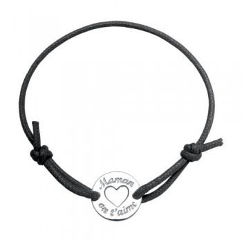 Bracelet cordon gravé