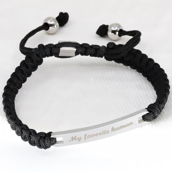 Bracelet homme Shamballa rectangle